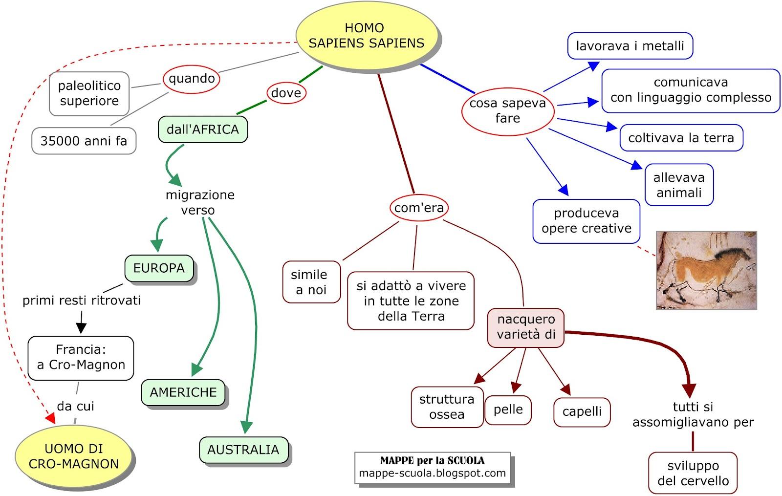 3a Elementare Mappa Concettuale Homo Sapiens Materiale Per