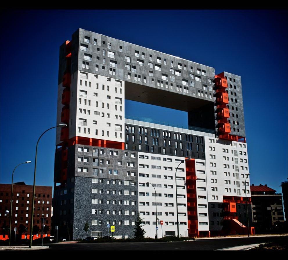 Architettura A Madrid architettura moderna: edificio mirador