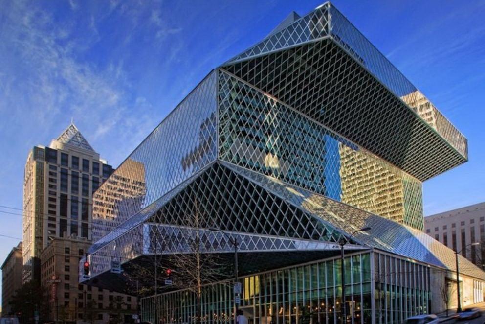 Architettura moderna seattle central library for Piani di architettura domestica moderna